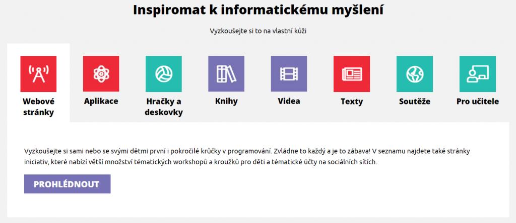 Inspiromat na webu imysleni.cz