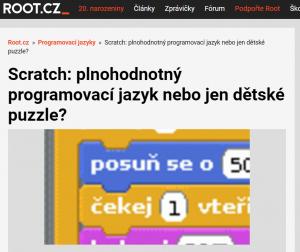 Seriál o Scratchi a dalších programovacích jazycích na Root.cz